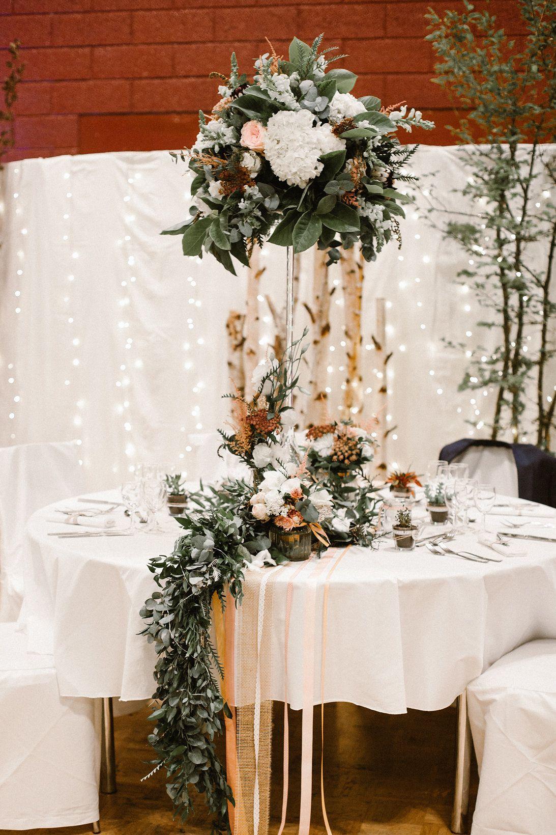 Mariage Romantique Dans Les Vosges Centre De Table D Honneur Wedding Photo