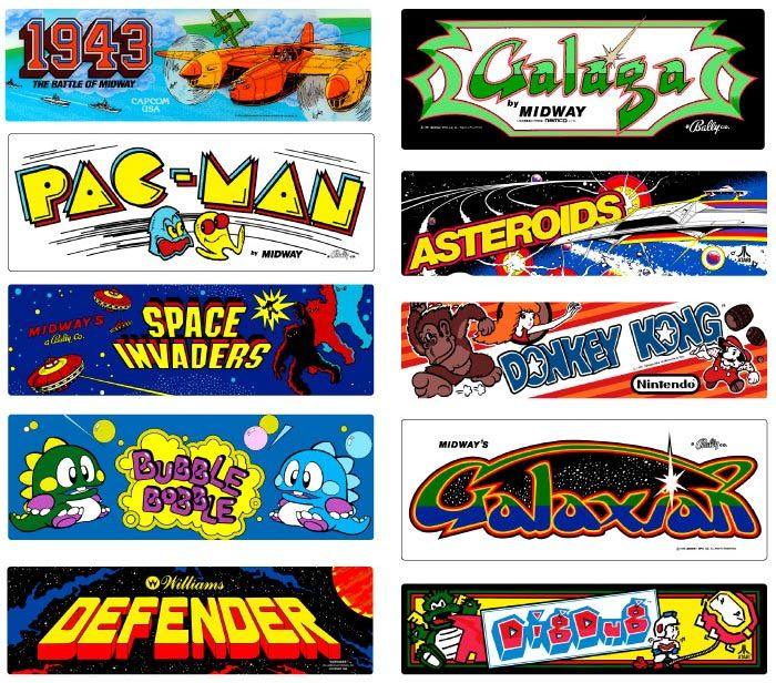 1980's Arcade Games Retro arcade games, Retro arcade