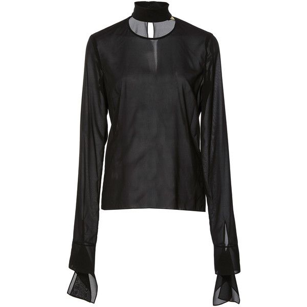 Hellessy Tilda Mock Turtleneck Blouse (955 NZD) ❤ liked on Polyvore featuring tops, blouses, black, drape top, turtleneck blouses, turtle neck top, polo neck top and mock turtle neck tops