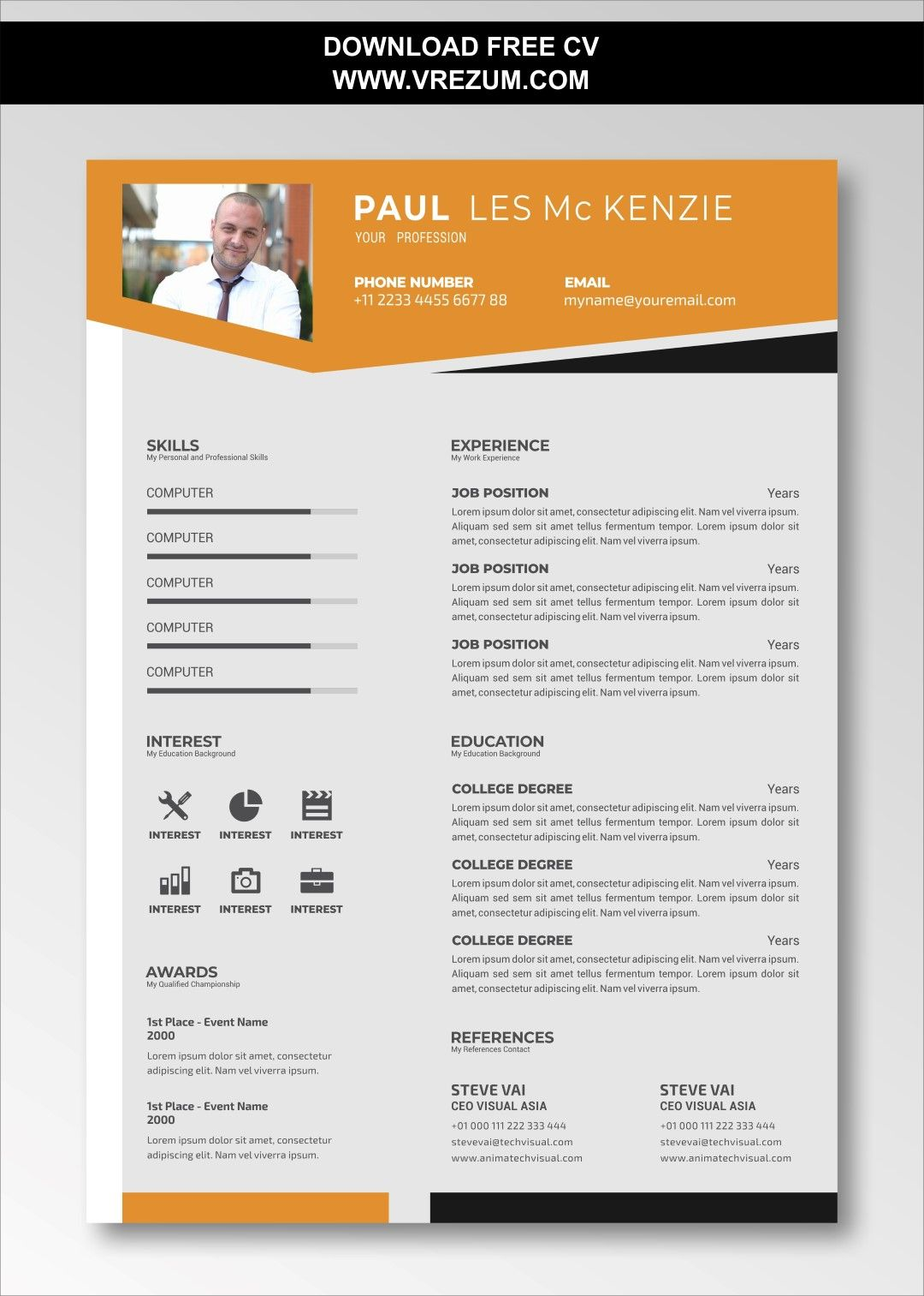 (EDITABLE) FREE CV Templates For Factory Worker in 2020