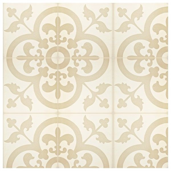 Commercial Kitchen Wall Tile: SomerTile 7.875x7.875-inch Cement Empress Beach Cement