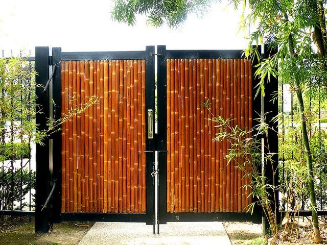 A Bamboo Gate Is A Great Way To Welcome People To Your