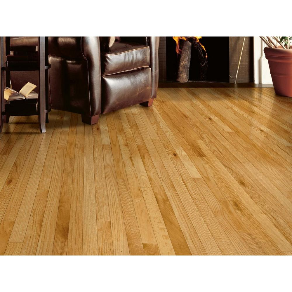WingWood Natural Oak Smooth Solid Hardwood, 3/8 inch x 2