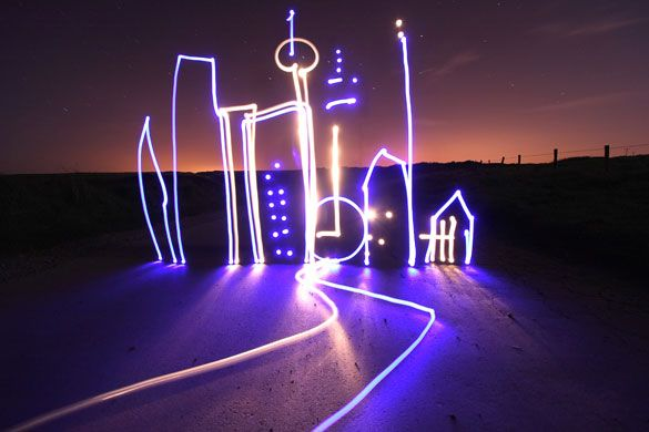 In Pictures Michael Bosanko S Light Graffiti Electric