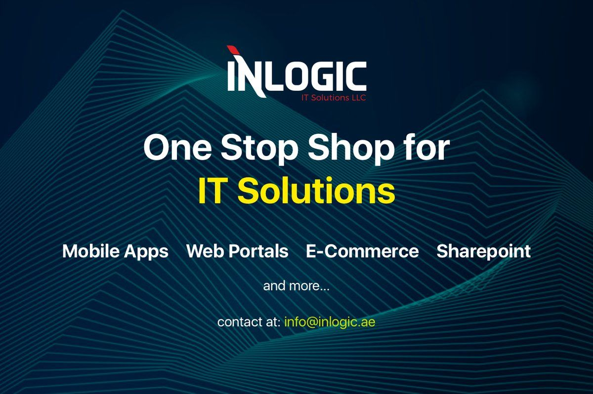 Inlogic Hub Of It Solutions Apps Development Web Development Ecommerce Sharepoint And Much More H Companies In Dubai Development Event Management System