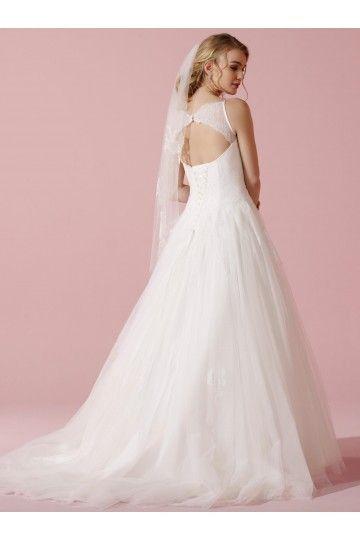 robe de mari e princesse en dentelle tulle bustier dos nu longue chic glamour robe. Black Bedroom Furniture Sets. Home Design Ideas