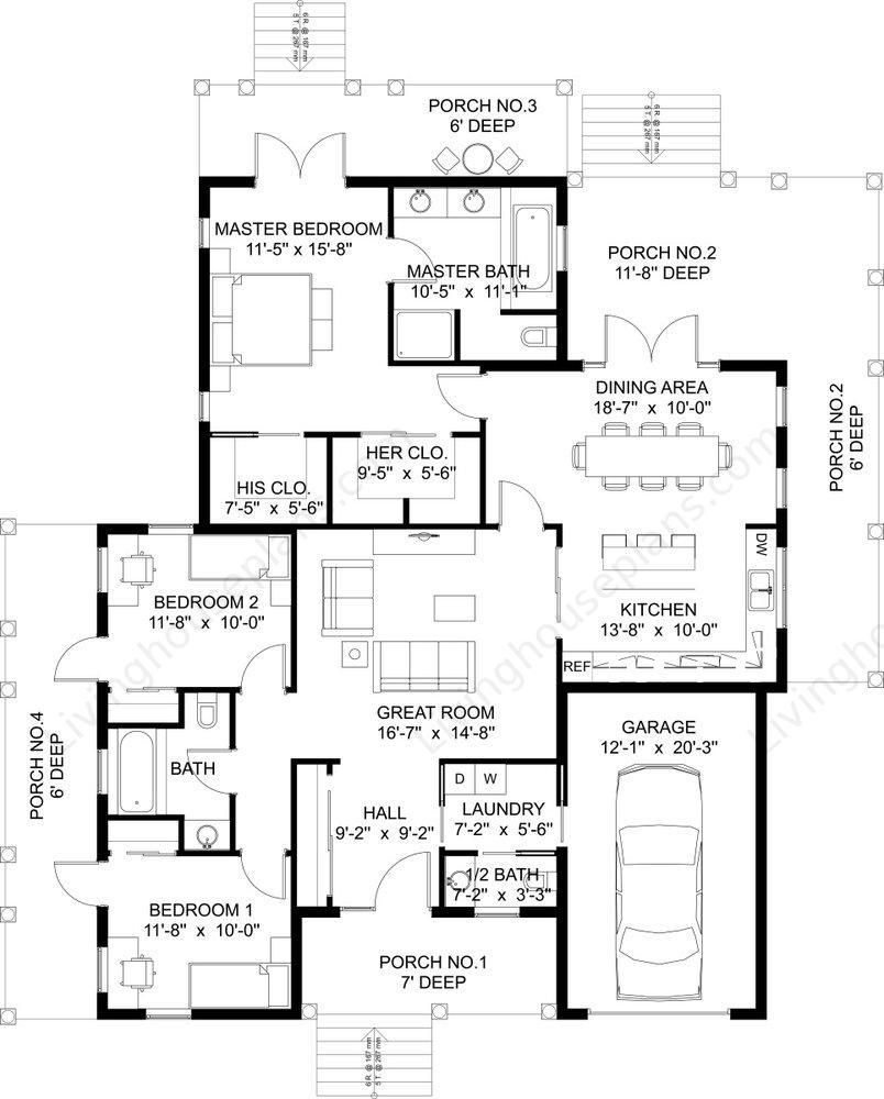 Home Floor Plans Interior Design Architecture Kits Cabin Plan Pool House Garage