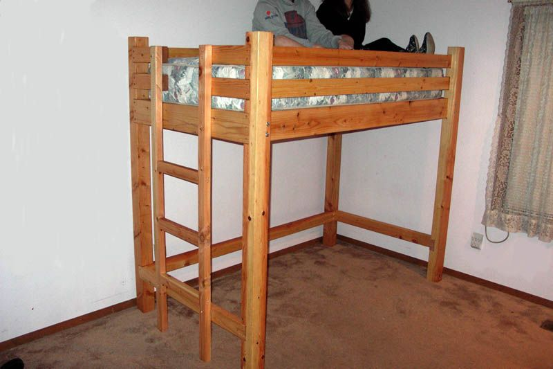 Diy loft bed plans free free bunkbed plans free bunk for Bunk bed ideas