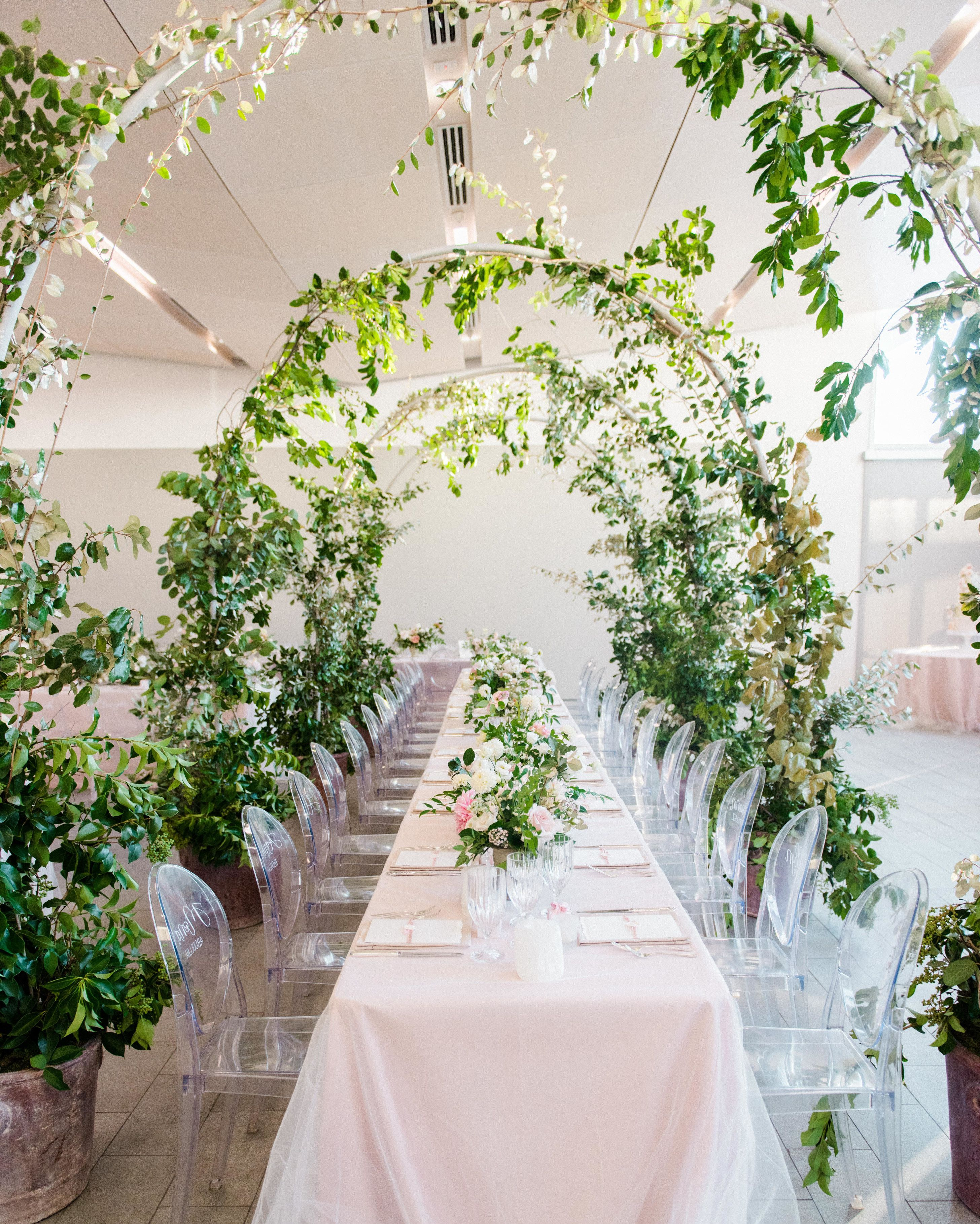 Indoor Wedding Reception Ideas: The Reception Took Place In A Private Indoor Area At