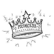 Princess Crown Coloring Pages Printable Sheet