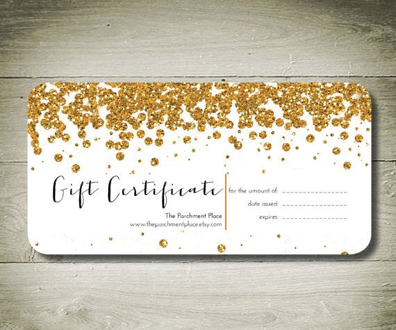 All That Glitters Custom Personalised Gift Certificate Printable Gift Certificate Free Printable Gift Certificates Gift Certificate Template