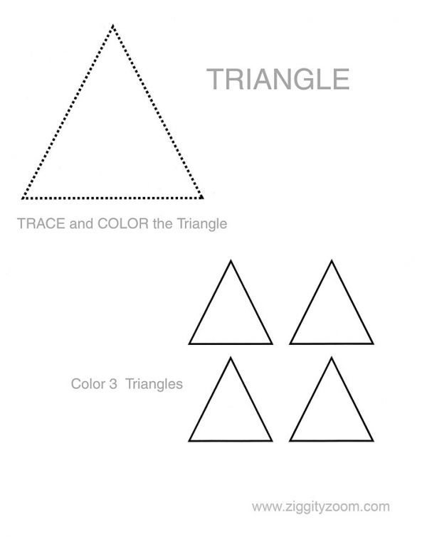 Shapes worksheet Triangle – Preschool Shape Worksheets