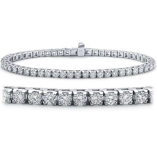 18ct white gold 8 50ct round diamond tennis bracelet