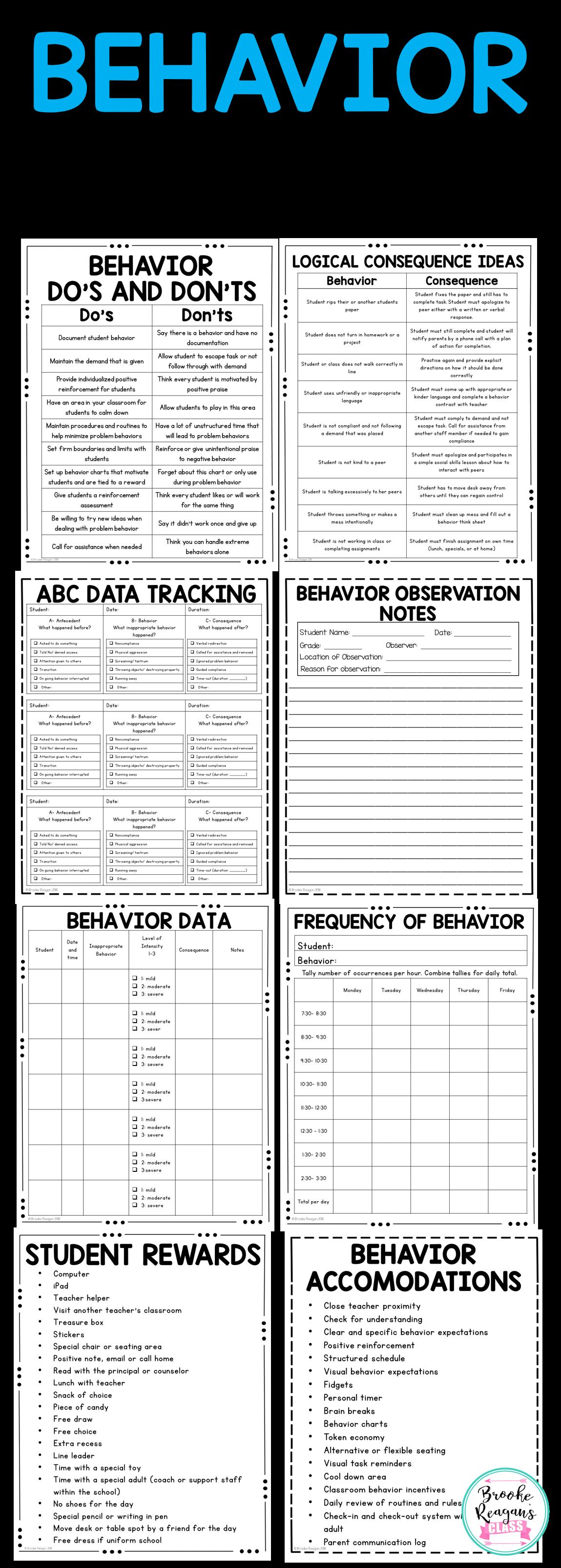 Behavior Binder Abc Data Behavior Tracking And Behavior