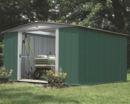 Arrow Green Dresden 10 X 10 Steel Storage Shed Storage Shed Kits Shed Storage Garden Shed Kits