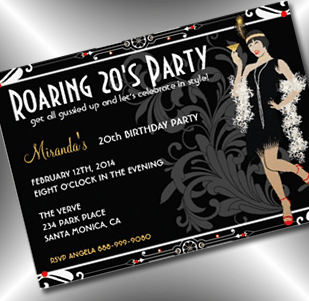 Flapper Girl 21st Birthday Roaring 20s Invitation Party Simplicity