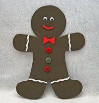 Foam Gingerbread Man Craft | All Kids Network