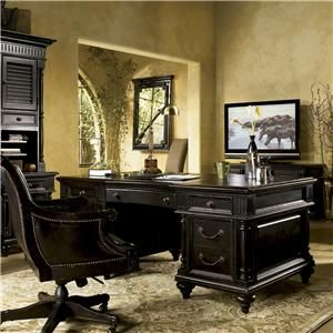 Tommy Bahama Home Kingstown Admiralty Executive Desk With Pilasters