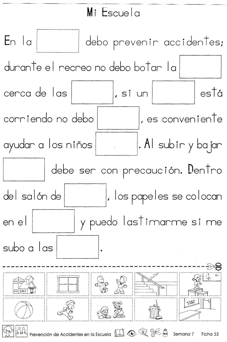 Prevención de accidentes en la escuela 2do Grado | Mi Escuelita ...