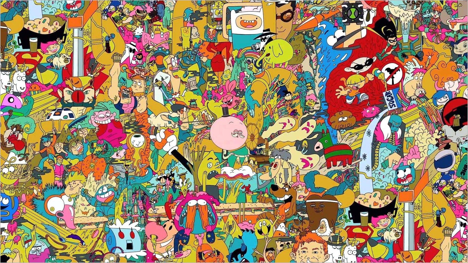 Takashi Murakami Wallpaper 4k Cartoon Wallpaper Cartoon Wallpaper Hd Incredible Cartoon