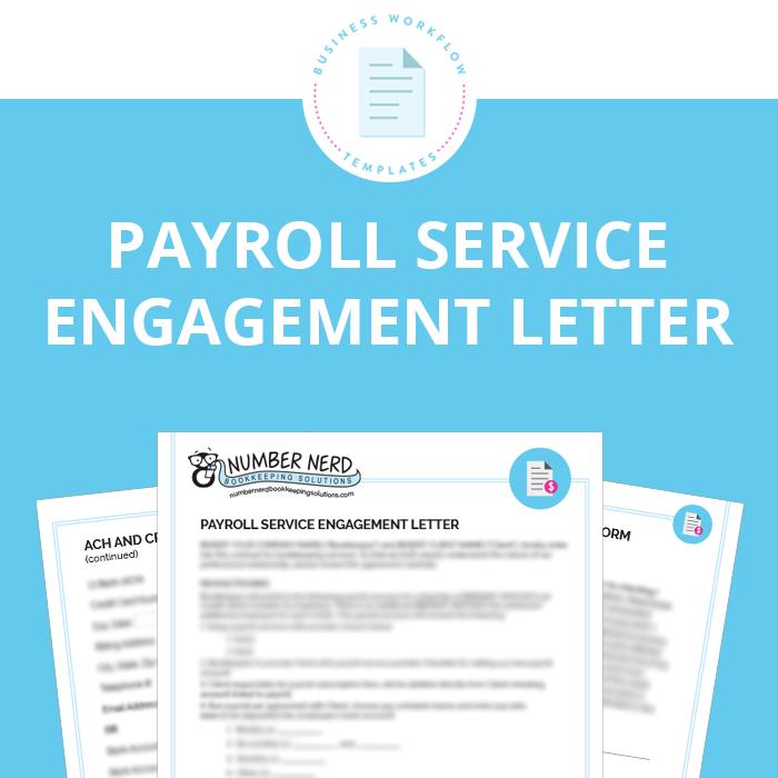Payroll Service Engagement Letter | Engagement letter ...
