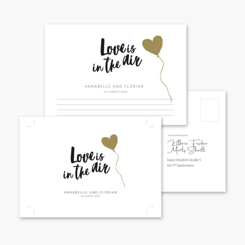 Ballonkarten Hochzeit Love Is In The Air Brush Wunsche Fur Das Brautpaar Jga Spiele Personalisierte Karten