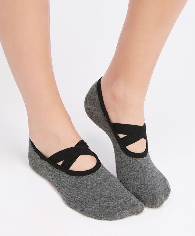 Calcetines Antideslizantes Mujer,2 Pares Calcetines Yoga para Pilates,Pure Barre,Ballet,Danza,Calcetines de Invierno