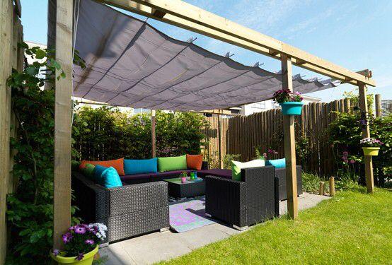 Harmonica waterdicht zonnedoek tuin ideeën pinterest pergolas