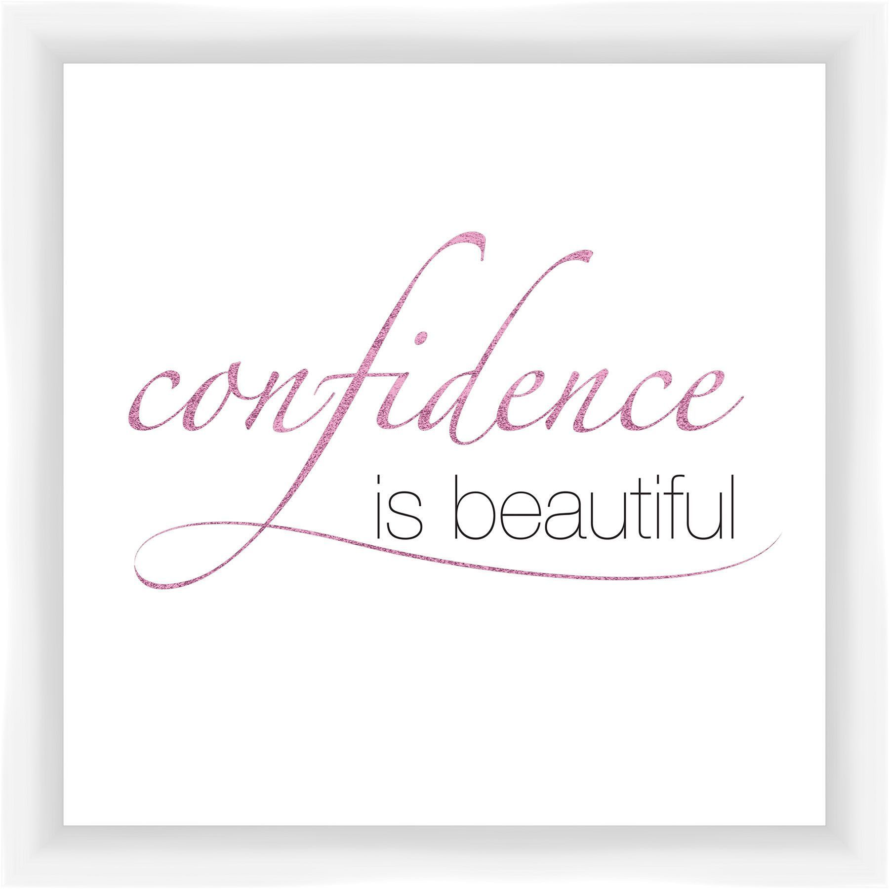Confidence is Beautiful Giclée Framed Textual Art