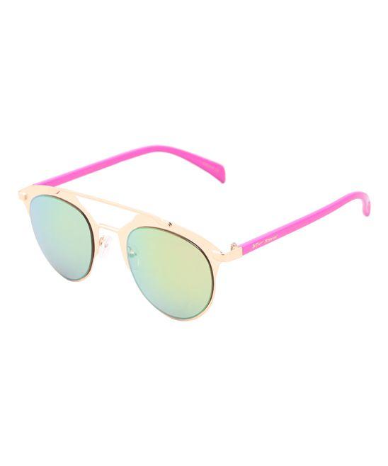 Rose Gold Futuristic Aviator Sunglasses
