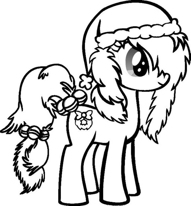 My Little Pony Christmas Coloring Pages Printable And Book To Print For Free Find More Online Kids Adults Of
