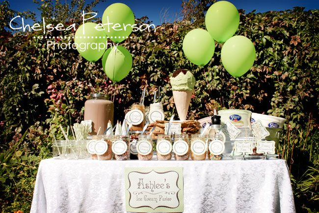 Chelsea Peterson Photography: Ice Cream Parlor Birthday Party so cute!!!!