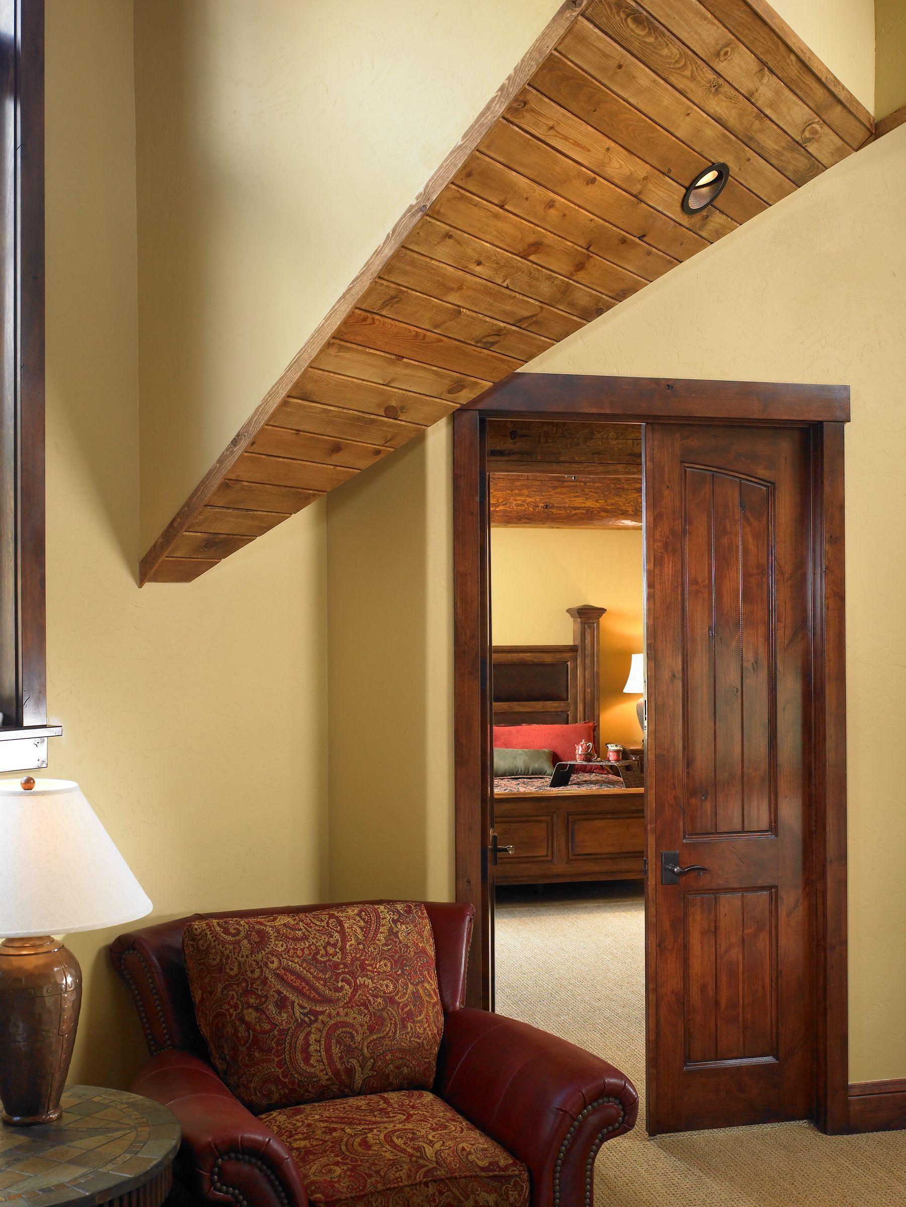 Apex Interior Door Half Top Rail Arch 2 Panel Plank C2 Knotty