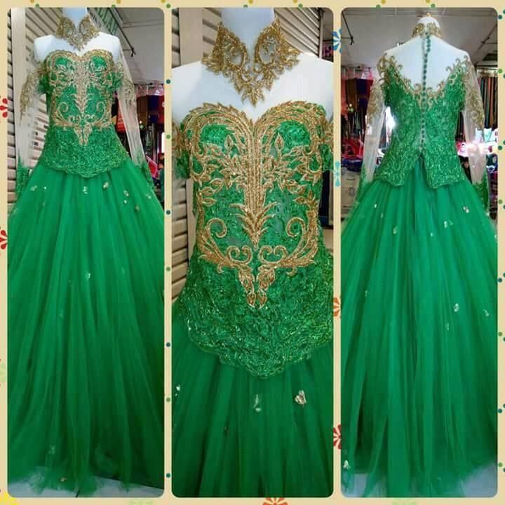Mint green maxi dress ukuran