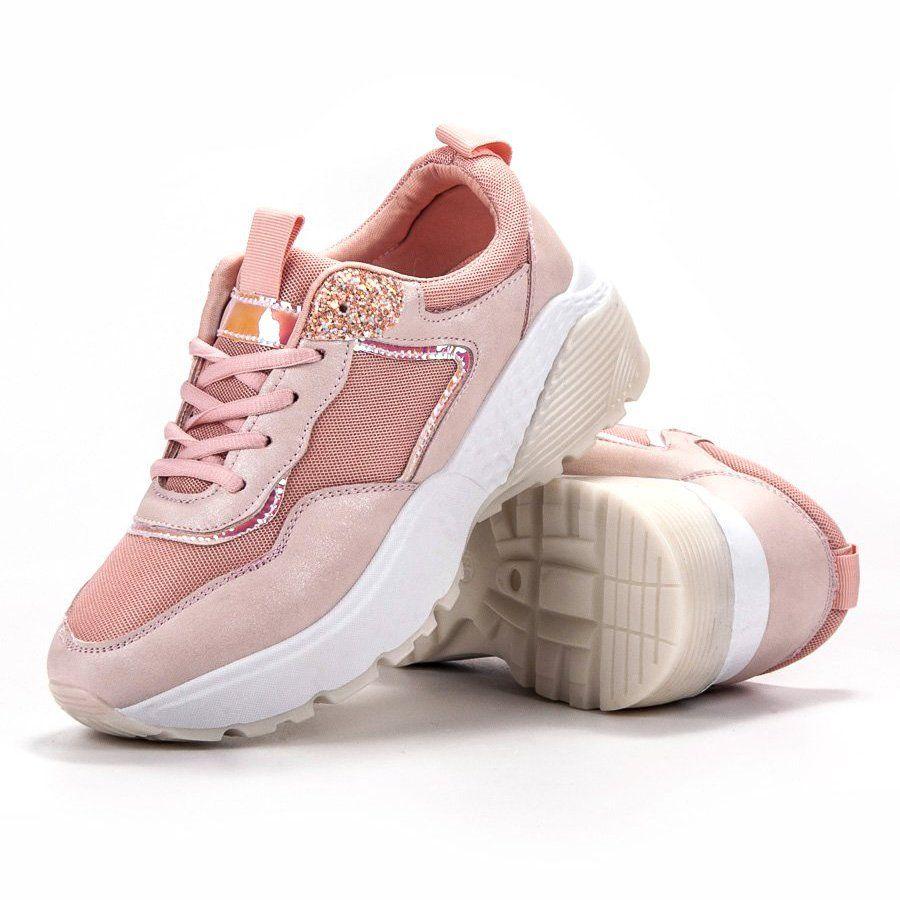 Shelovet Sznurowane Sneakersy Rozowe Baby Shoes Shoes Fashion