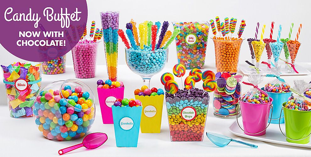 candy buffet supplies candy table station party city