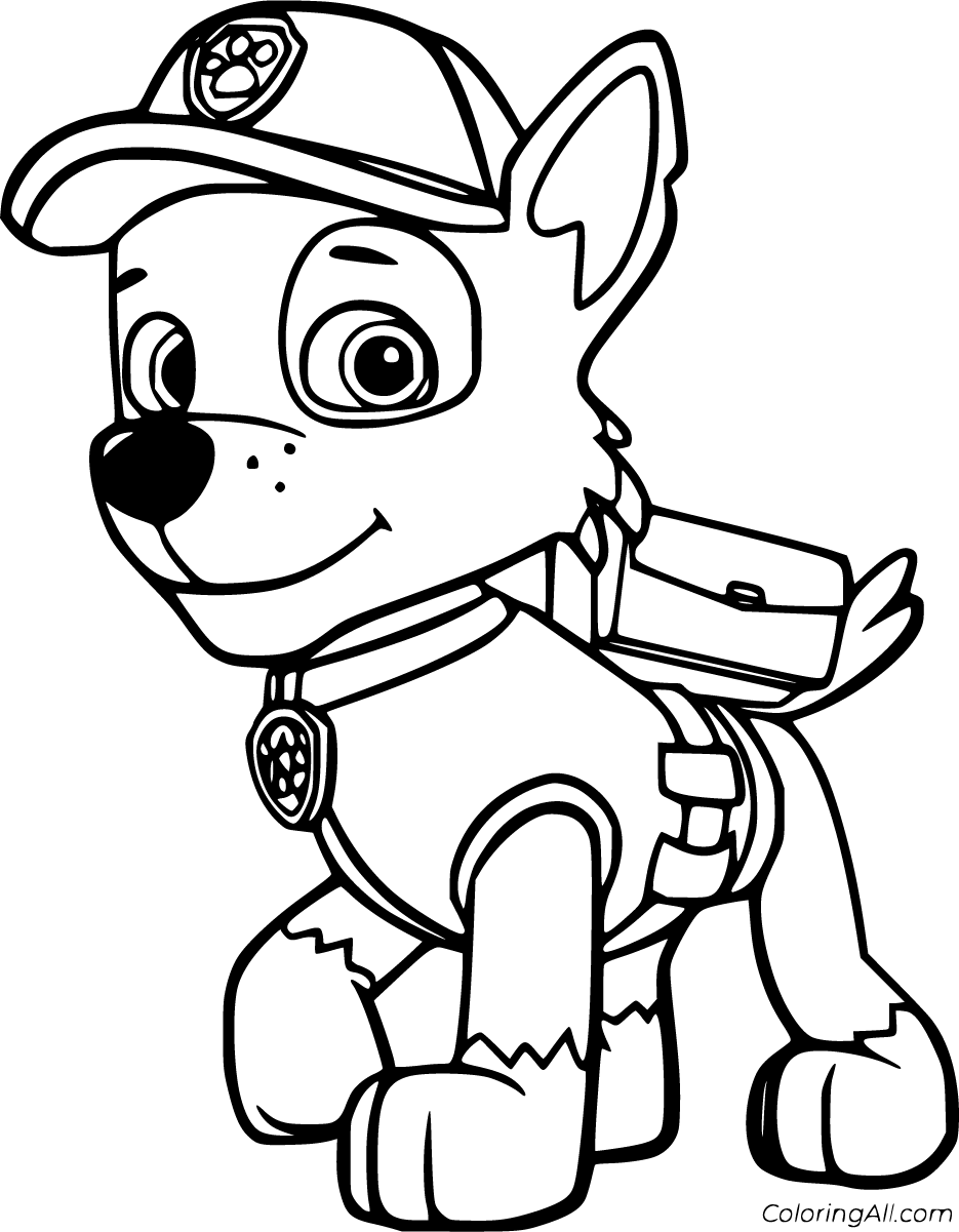 8 Free Printable Rocky Paw Patrol Coloring Pages In Vector Format Easy To Print From Any D In 2020 Paw Patrol Coloring Pages Paw Patrol Coloring Paw Patrol Printables