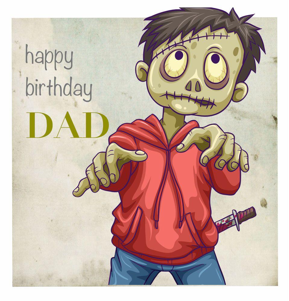 Dad Boyfriend Birthday Card Zombie Greeting Card Personalise This Card Personal Cards Birthday Cards For Boyfriend Birthday Cards