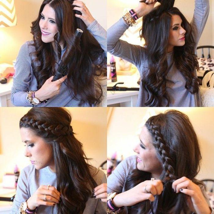 Faire une coiffure sur cheveux long