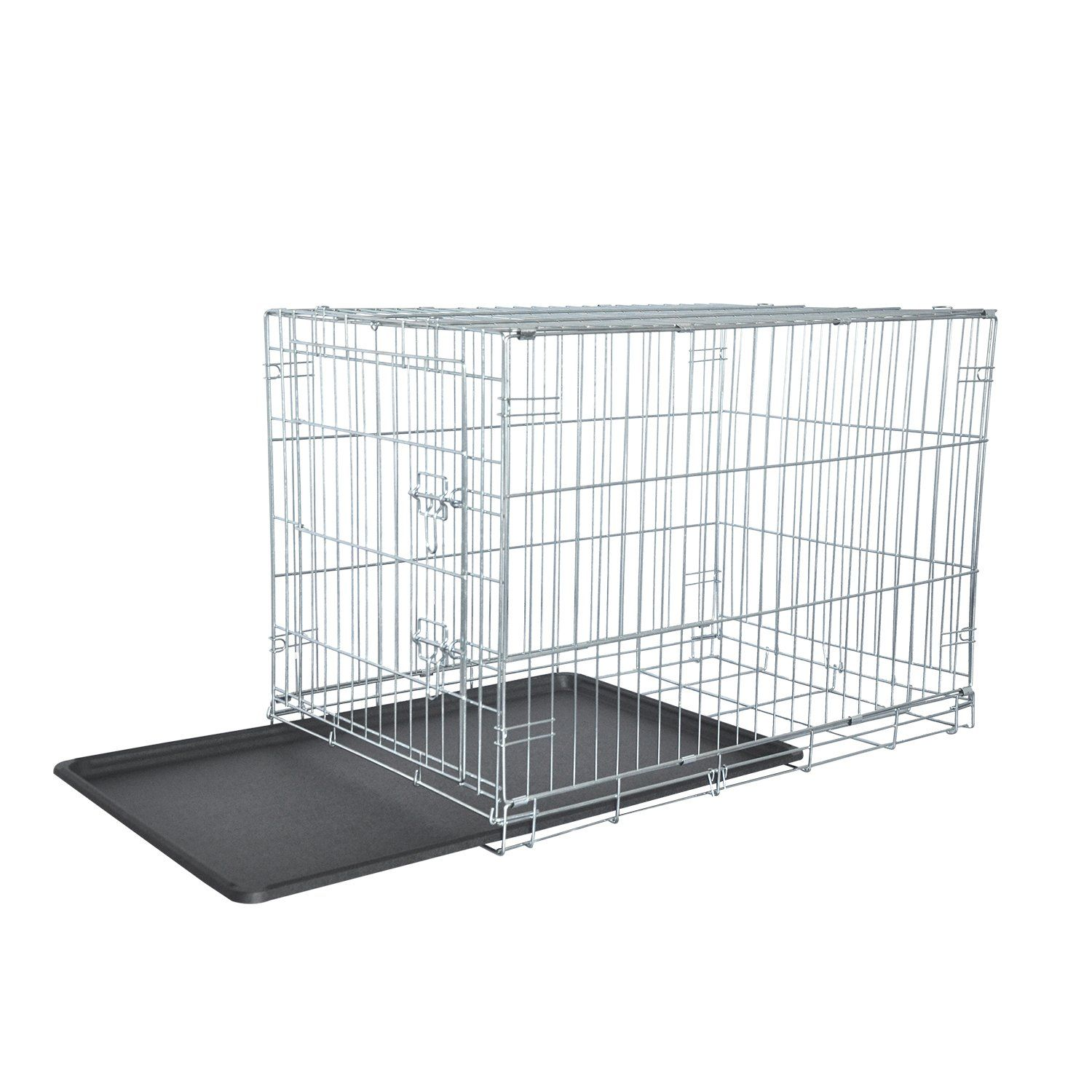 Lemka Dog Crate Single Door Galvanized Never Paint Off Floor Protecting Feet Andleak Proof Dog Tray Compact An Folding Dog Crate Portable Dog Crate Dog Crate