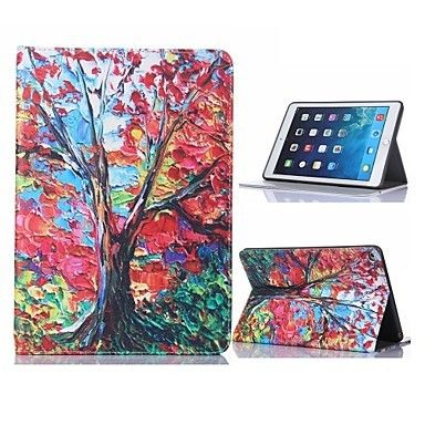 Oil Painting Tree Design Case with Stand for iPad Air 2 / iPad mini 3