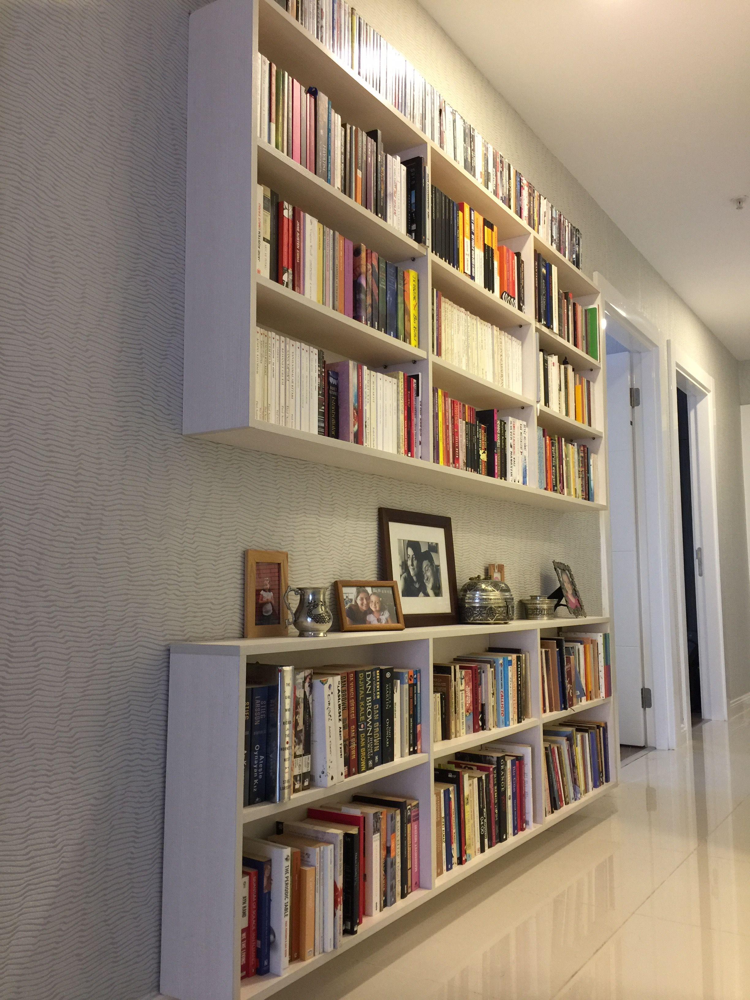 Efficient And Decorative Bookshelf Alternative For Narrow Spaces Dark Hallway Bookshelves Frosting