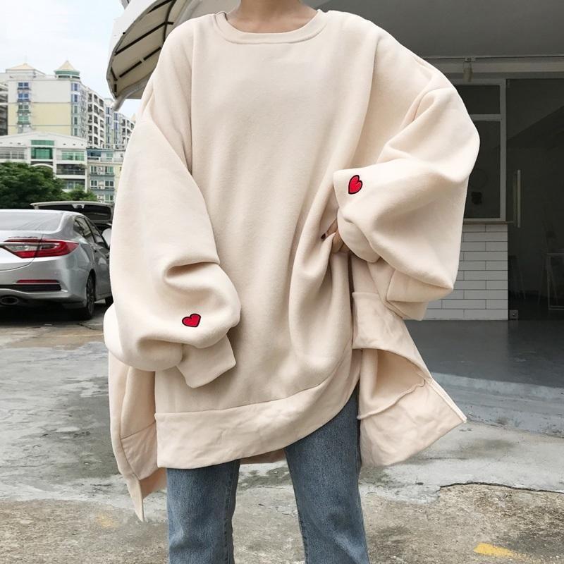Harajuku style large size sweatshirt -   18 style Hijab winter ideas