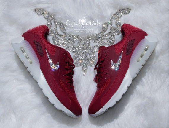 Nike Shoes Swarovski Nike Air Max 90 Ultra Maroon