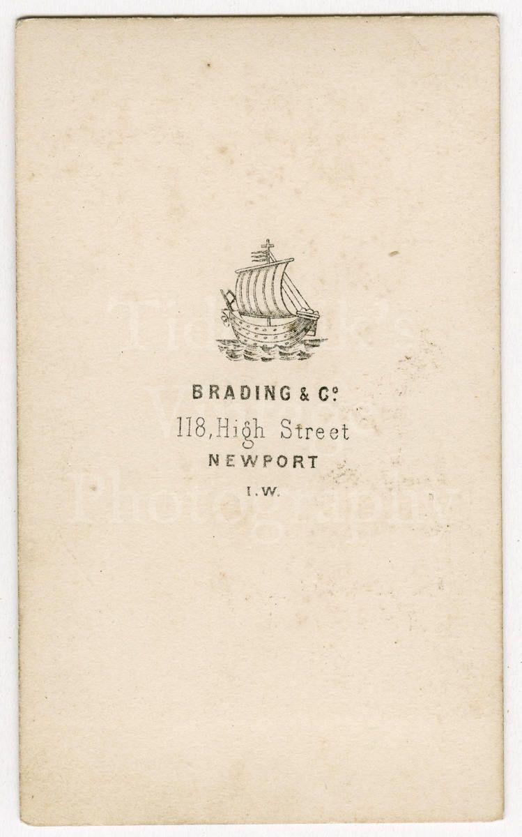 CDV Carte De Visite Photo Victorian Couple Husband Wife Portrait By Brading Co Of Newport Wales