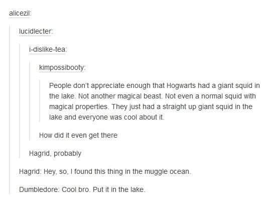 A Giant Squid Harry Potter Tumblr Harry Potter Headcannons Harry Potter Texts