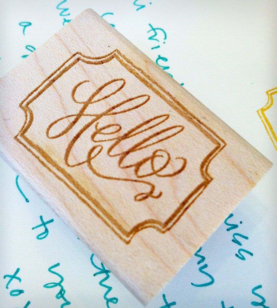 Hello Stamp | Gifts Cards & Stationery | Hardink Calligraphy | Scoutmob Shoppe | Product Detail