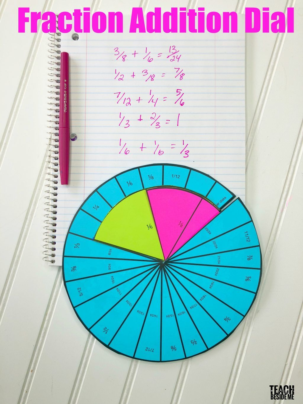 Adding Fractions Fraction Addition Dial