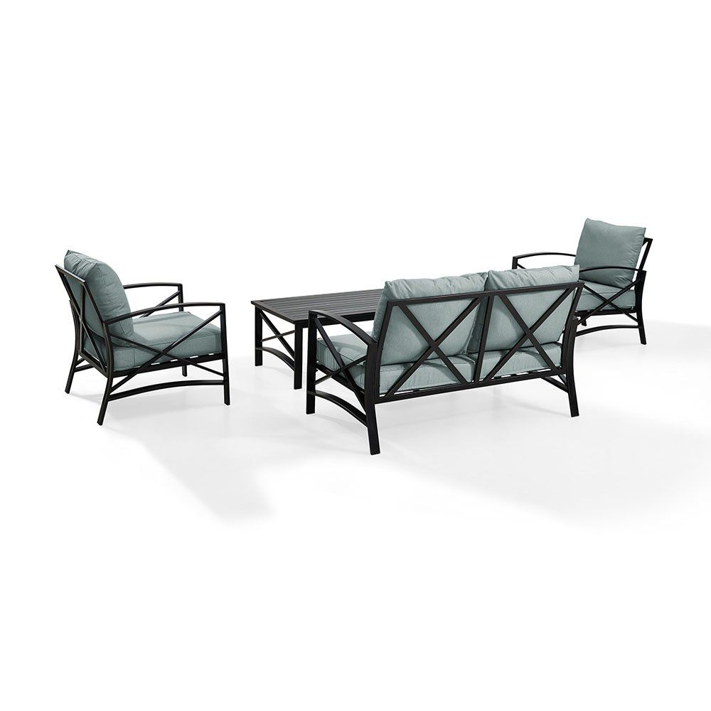 Mist Gray 4 Piece Outdoor Patio Furniture Set Kaplan Patio