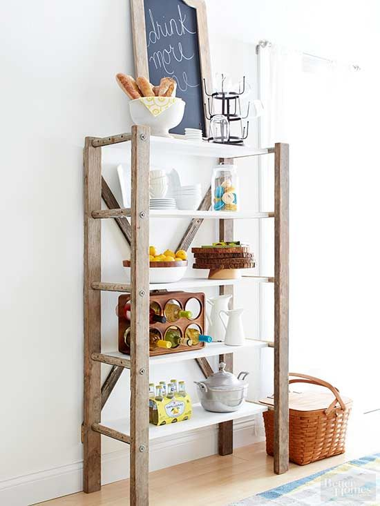 Step Inside A Vintage Resale Shop And You Ll Probably Find A Rustic Ladder Or Two Unique Home Decor Kitchen Design Diy Home Decor